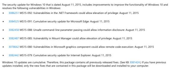 Microsoft rolls out second cumulative update for Windows 10